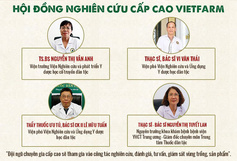 Hội đồng nghiên cứu cấp cao kiểm định chất lượng nuôi cấy đông trùng Vietfarm