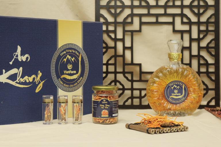 Một số sản phẩm tiêu biểu của Đông trùng hạ thảo Vietfarm được giới thiệu tại buổi lễ