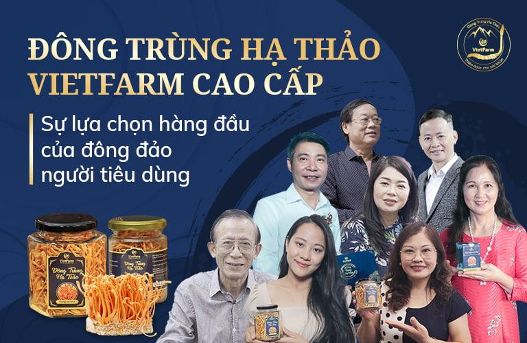 NS Công Lý, NS Thanh Hiền, NS Phú Thăng, NS Kim Xuyến,… tin dùng sản phẩm ĐTHT Vietfarm