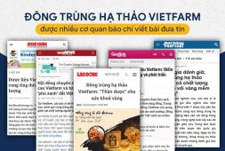 Báo chi đưa tin về Đông trùng hạ thảo Vietfarm