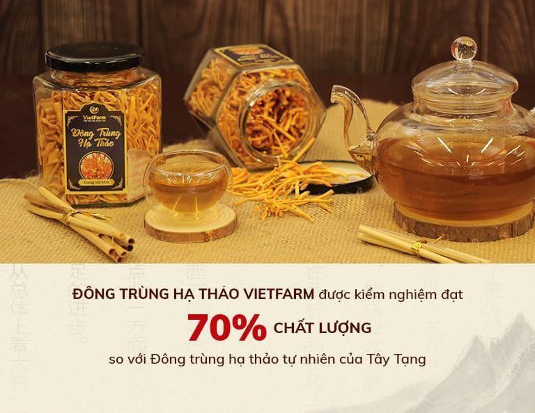 Đông trùng Vietfarm đã được kiểm định chất lượng và là món quà ý nghĩa cho ngày phụ nữ Việt Nam
