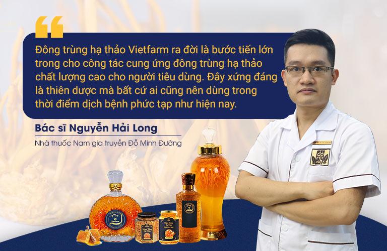 Bác sĩ Nguyễn Hải Long chia sẻ về tác dụng của đông trùng hạ thảo trong nâng cao sức khoẻ, hệ miễn dịch trong phòng chống Covid-19